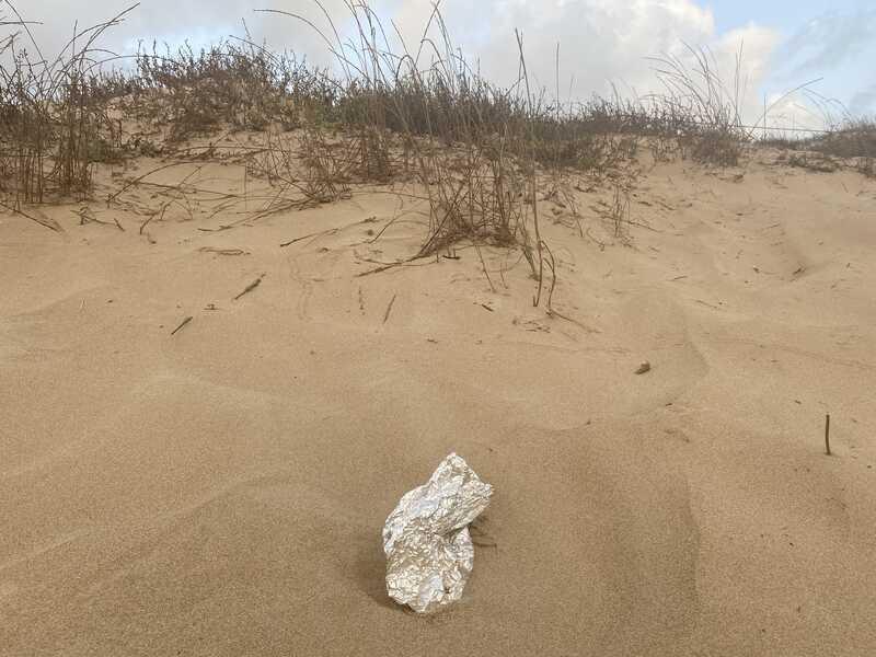 playa la marina basura